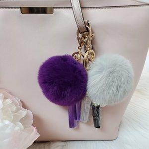 GreenSnooker Keychain Rex Rabbit Fur Ball Plush